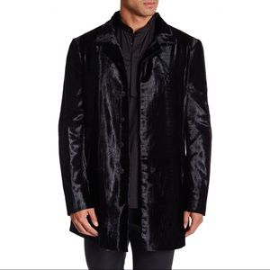 John Varvatos Collection Embossed Velvet Coat 44